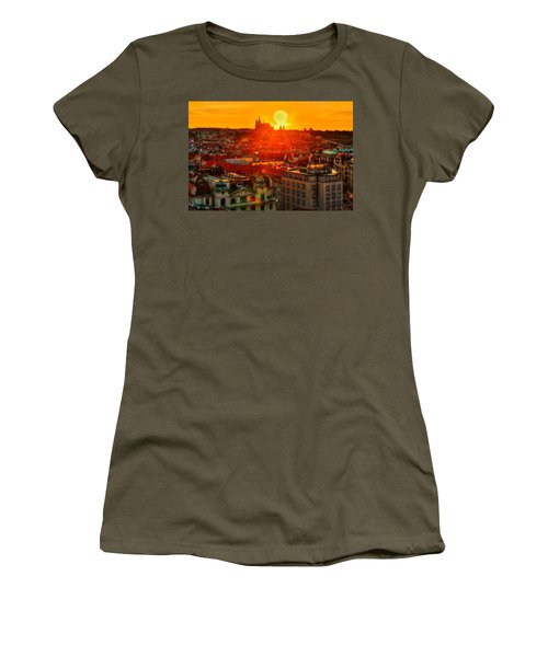 Sunset Over Prague Women's T-Shirt (Athletic Fit)