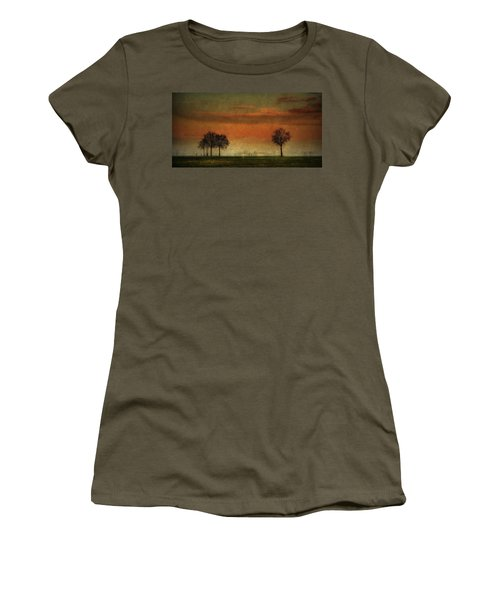 Sunset Over The Country Women's T-Shirt (Athletic Fit)