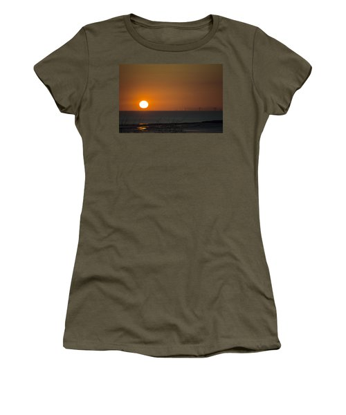 Sunset Over The Windfarm Women's T-Shirt (Athletic Fit)