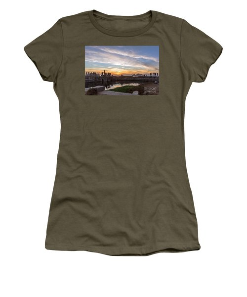 Women's T-Shirt featuring the photograph Sunset Party by Kate Brown