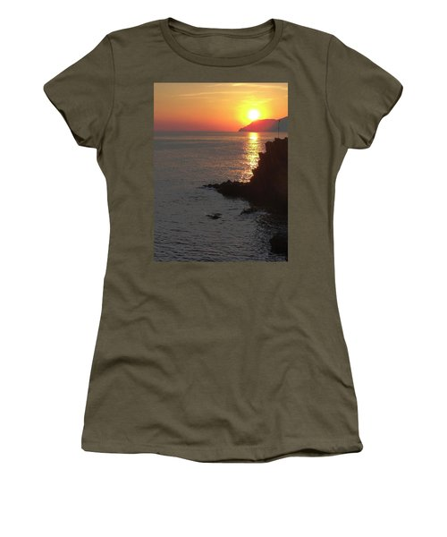 Women's T-Shirt (Junior Cut) featuring the photograph Sunset Reflection by Natalie Ortiz