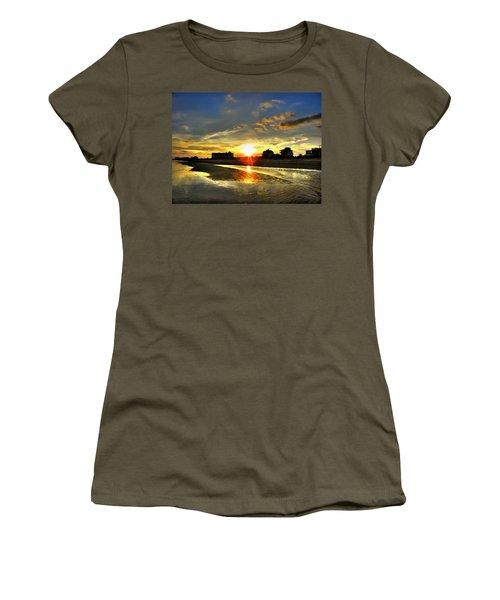 Women's T-Shirt (Junior Cut) featuring the photograph Sunset by Savannah Gibbs