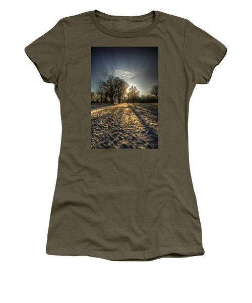 Sunset Snow Trees Women's T-Shirt