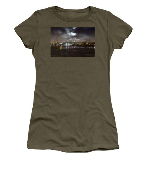 Super Moon And Triboro Bridge Women's T-Shirt