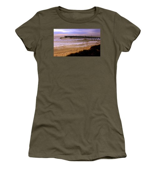 Surf City Pier Women's T-Shirt (Junior Cut)