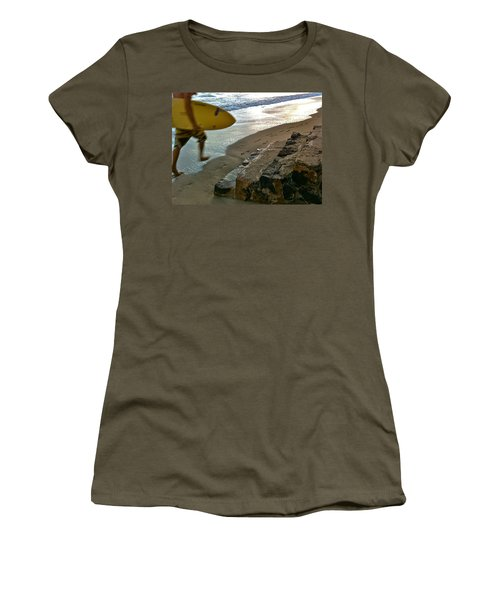 Surfer In Motion Women's T-Shirt (Athletic Fit)