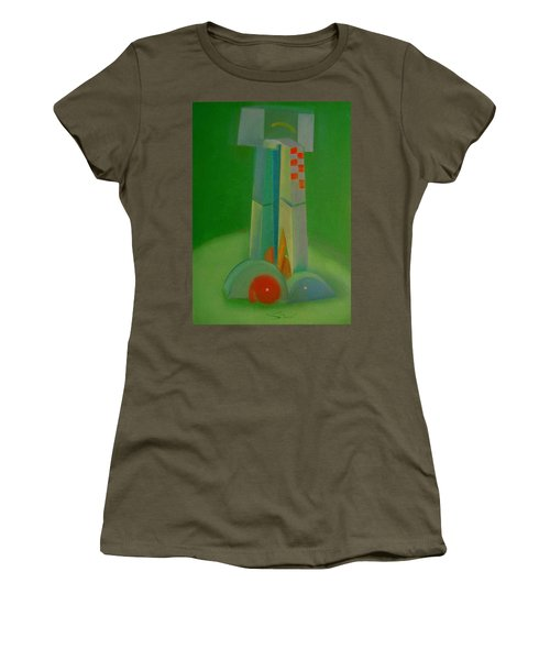 Women's T-Shirt (Junior Cut) featuring the painting Survivors by Charles Stuart
