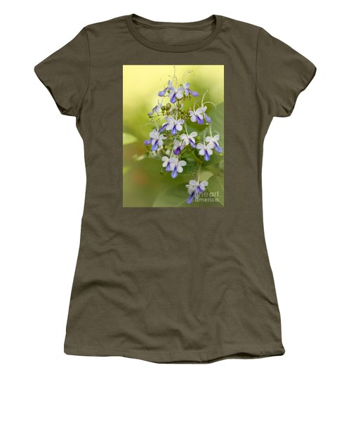 Sweet Butterfly Flowers Women's T-Shirt