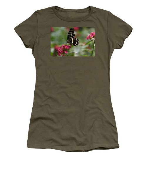 Women's T-Shirt (Junior Cut) featuring the photograph Sweet Nectar by Denyse Duhaime