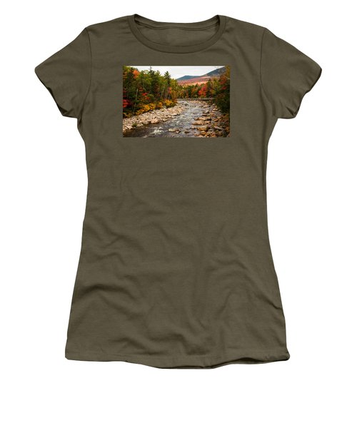 Swift River Painted With Autumns Paint Brush Women's T-Shirt (Athletic Fit)