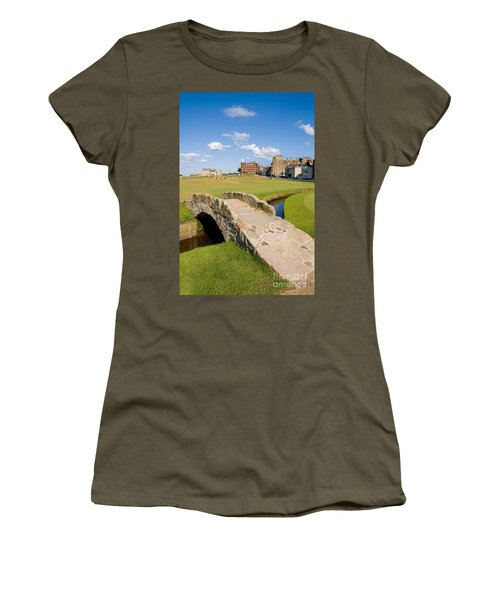 Swilcan Bridge On The 18th Hole At St Andrews Old Golf Course Scotland Women's T-Shirt