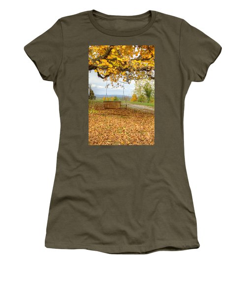 Swing With A View Women's T-Shirt (Athletic Fit)