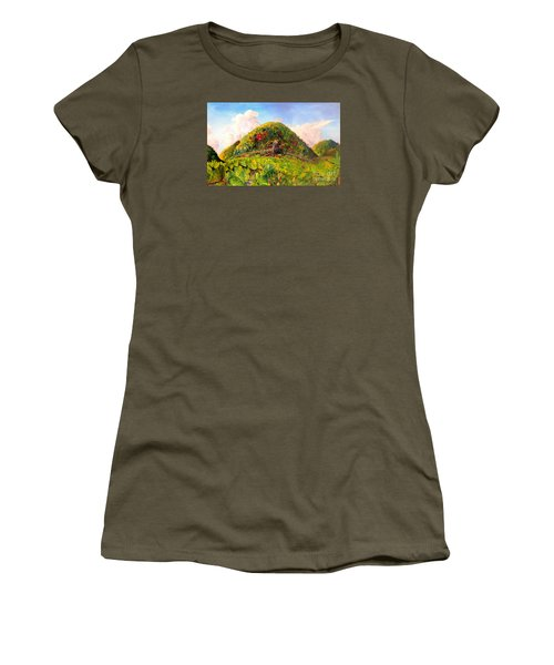 Taro Garden Of Papua Women's T-Shirt (Junior Cut) by Jason Sentuf