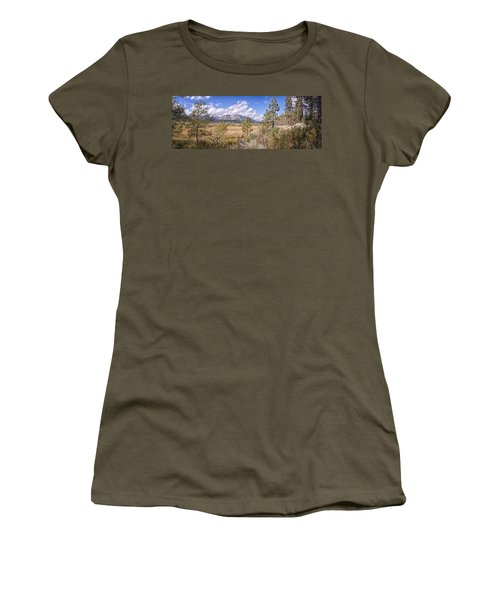 Women's T-Shirt (Junior Cut) featuring the photograph Taylor Creek Panorama by Jim Thompson
