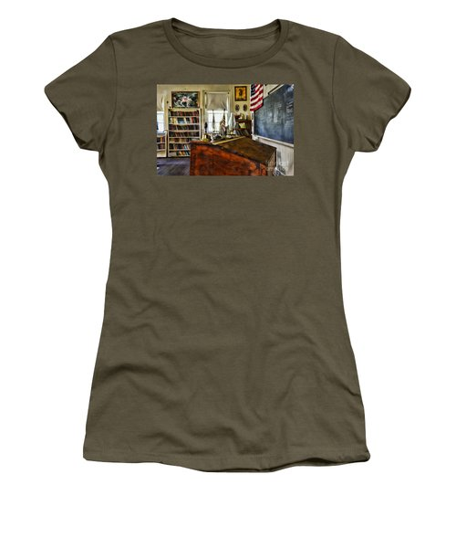 Teacher - Vintage Desk Women's T-Shirt (Junior Cut) by Paul Ward