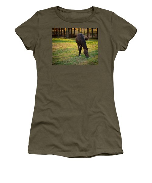 Women's T-Shirt featuring the photograph Tender Spring Grass by Kristi Swift