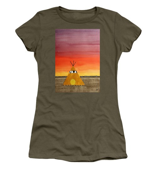 Tepee Or Not Tepee Original Painting Women's T-Shirt