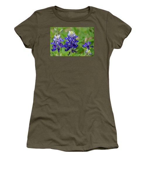 Texas Bluebonnets Women's T-Shirt (Junior Cut) by Debra Martz
