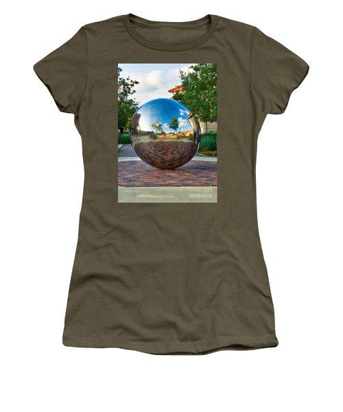 Women's T-Shirt featuring the photograph Tech World by Mae Wertz