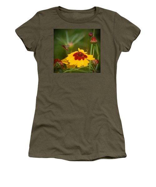 Women's T-Shirt (Junior Cut) featuring the photograph Textured Bee by Leticia Latocki