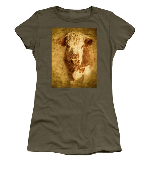 Textured Hereford Cow Women's T-Shirt