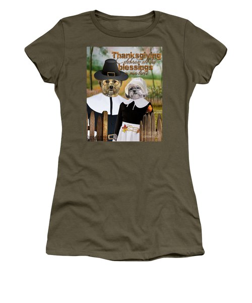 Thanksgiving From The Dogs-2 Women's T-Shirt