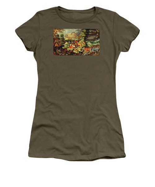 The Animals Entering The Ark Women's T-Shirt (Junior Cut) by Jacob II Savery
