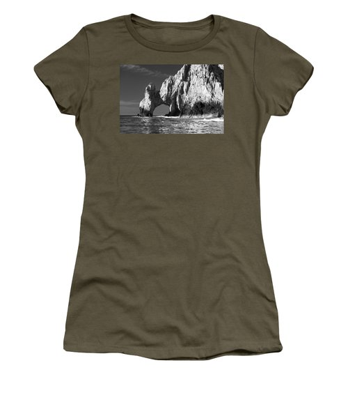 The Arch Cabo San Lucas In Black And White Women's T-Shirt