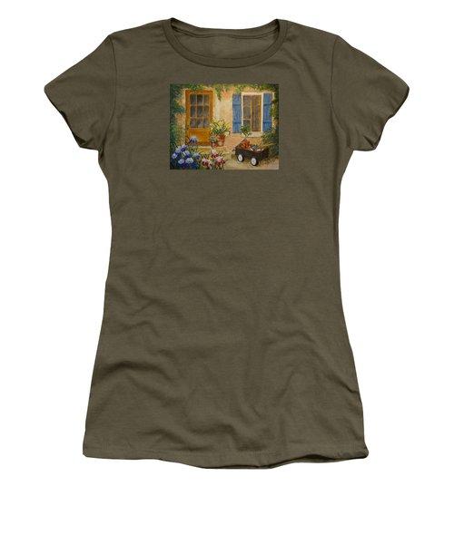 The Back Door Women's T-Shirt (Junior Cut) by Marilyn Zalatan