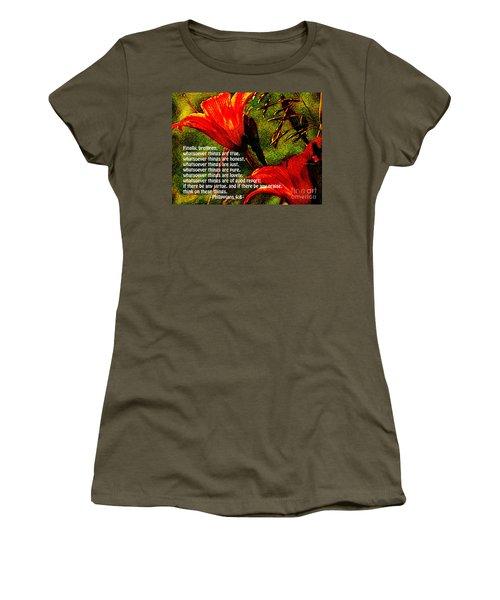 The Bible Philippians 4 Women's T-Shirt (Athletic Fit)