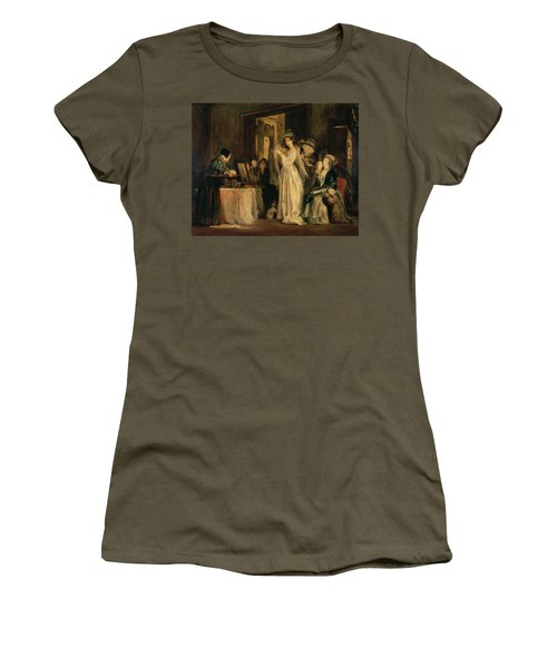 The Bride At Her Toilet On The Day Of Her Wedding, 1838 Oil On Canvas Women's T-Shirt