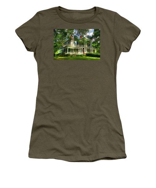 A Southern Bell The Carlton Home Art Southern Antebellum Art Women's T-Shirt (Junior Cut) by Reid Callaway