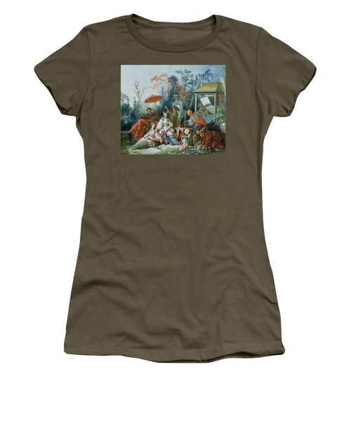 The Chinese Garden, C.1742 Oil On Canvas Women's T-Shirt