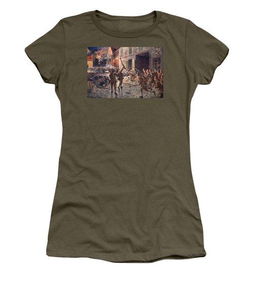 The Coldstream Guards At Landrecies Women's T-Shirt