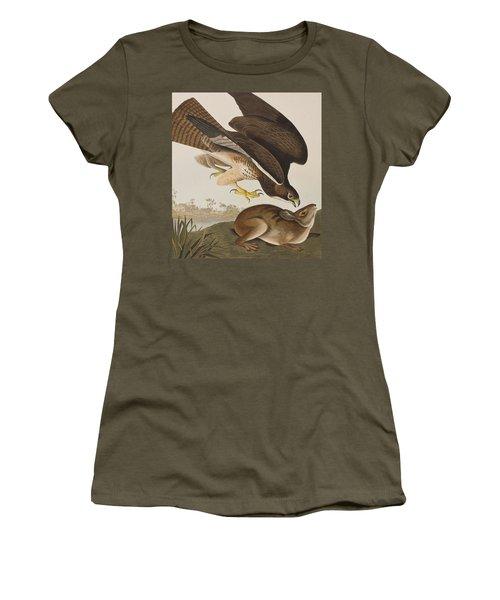 The Common Buzzard Women's T-Shirt (Junior Cut) by John James Audubon