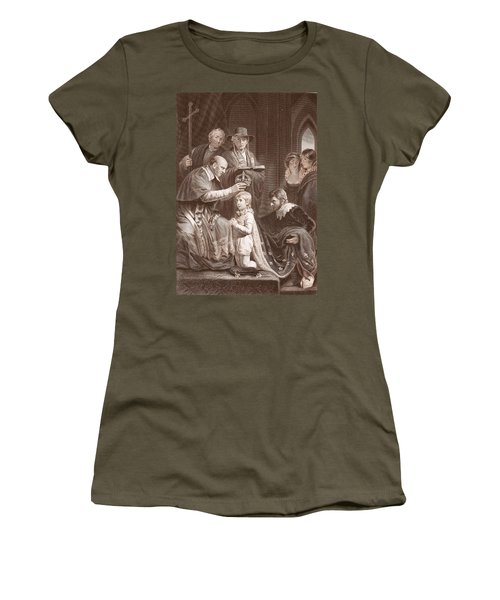 The Coronation Of Henry Vi, Engraved Women's T-Shirt (Junior Cut) by John Opie
