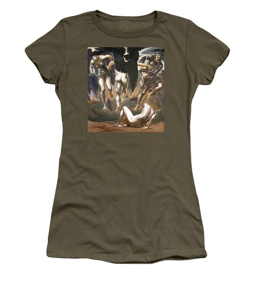 The Death Of Medusa II, 1882 Women's T-Shirt (Junior Cut) by Sir Edward Coley Burne-Jones