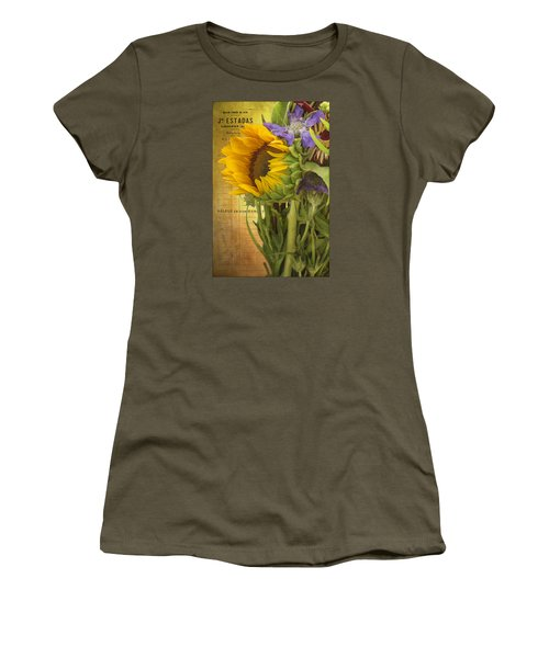 Women's T-Shirt (Junior Cut) featuring the photograph The Flower Market by Priscilla Burgers
