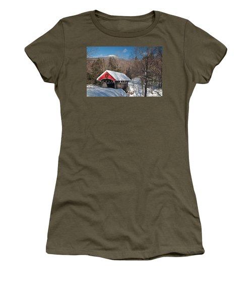 The Flume Bridge In Winter Women's T-Shirt