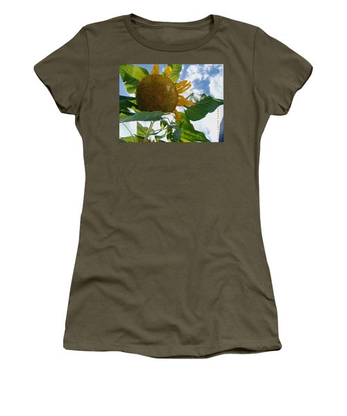 Women's T-Shirt (Junior Cut) featuring the photograph The Gigantic Sunflower by Verana Stark