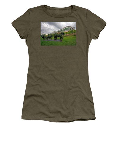The Grand Hotel Mackinac Island Women's T-Shirt (Junior Cut) by Jerry Gammon