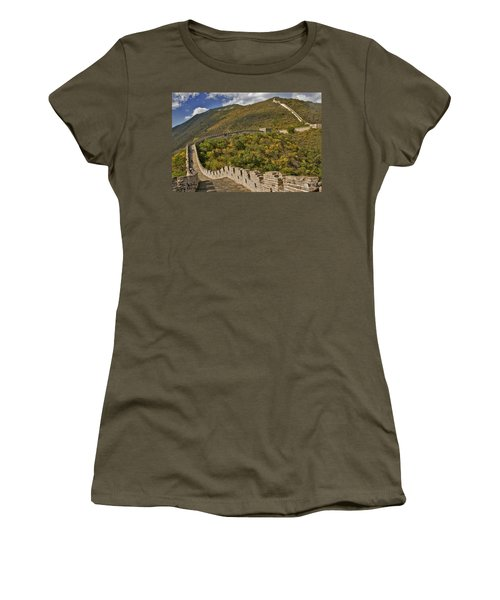 The Great Wall Of China At Mutianyu 2 Women's T-Shirt (Athletic Fit)