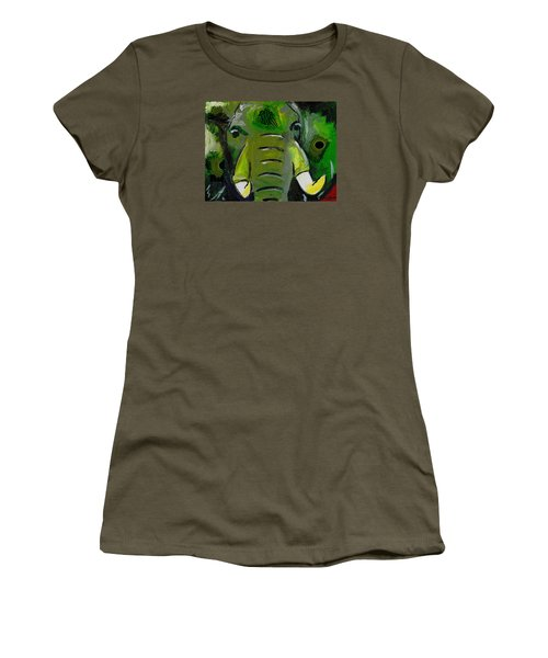 The Green Elephant In The Room Women's T-Shirt (Athletic Fit)