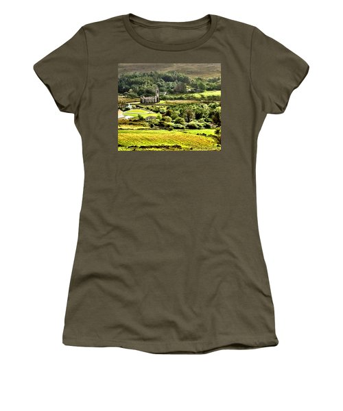 Women's T-Shirt (Junior Cut) featuring the photograph The Green Valley Of Poisoned Glen by Charlie and Norma Brock