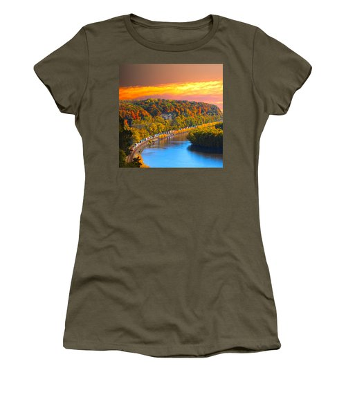 The Hobo Train Up The Mississippi Women's T-Shirt (Athletic Fit)