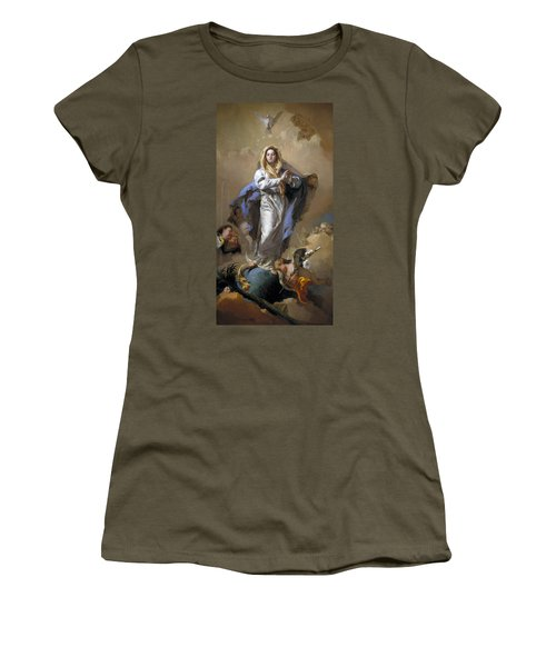 The Immaculate Conception Women's T-Shirt (Junior Cut) by Giovanni Battista Tiepolo