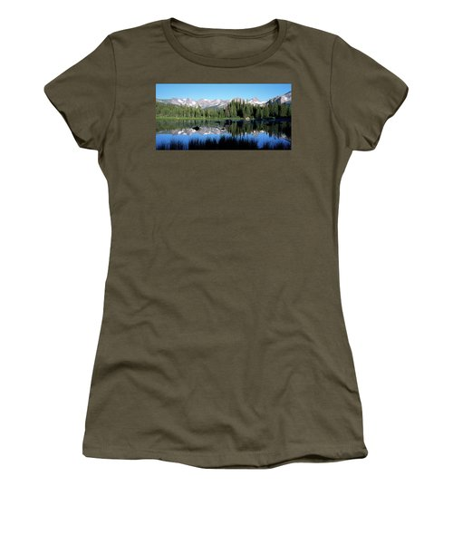 The Indian Peaks Reflected In Red Rock Women's T-Shirt