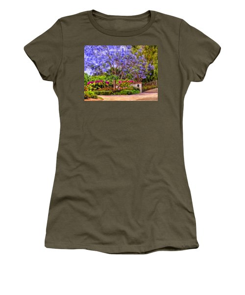 Women's T-Shirt (Junior Cut) featuring the painting The Jacaranda by Michael Pickett