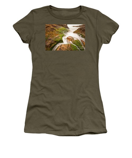 The Jagged Rocks And Cliffs Of Montana De Oro State Park In California Women's T-Shirt