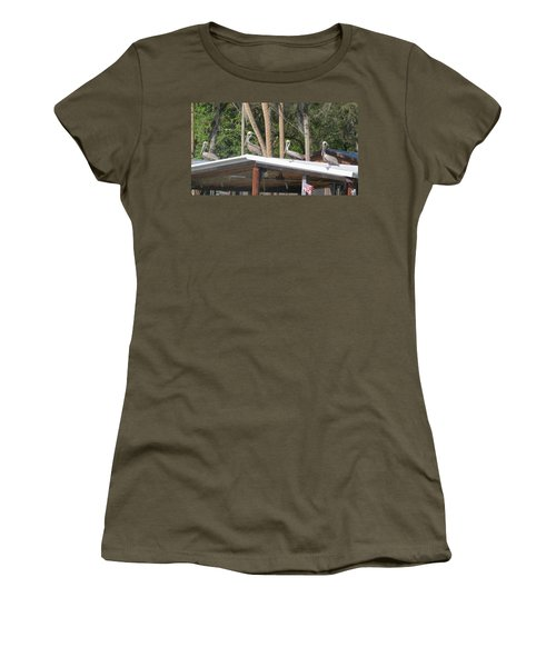Women's T-Shirt (Junior Cut) featuring the photograph The Lineup by Fortunate Findings Shirley Dickerson